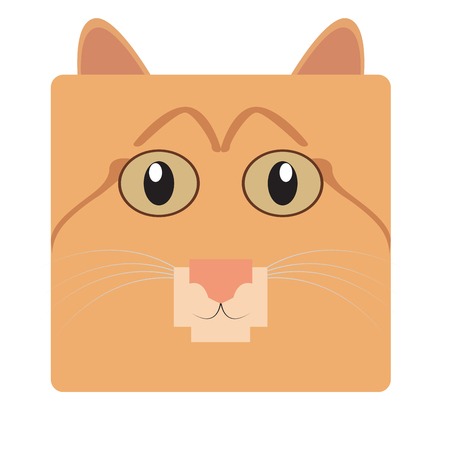 Isolated face of a cat, Vector illustration Illustration
