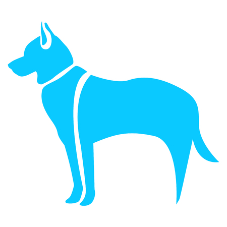 Isolated abstract dog on a white background, Vector illustration