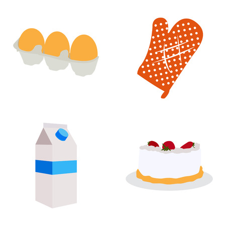 Set of bakery icons on a white background, Vector illustration