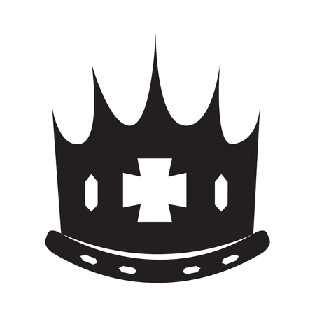 Isolated silhouette of a crown, Vector illustration