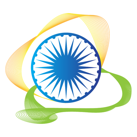 Isolated emblem of the flag of India, Vector illustration