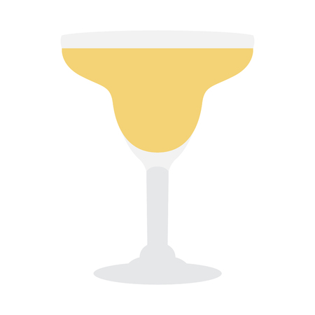 Isolated cocktail on a white background, Vector illustration
