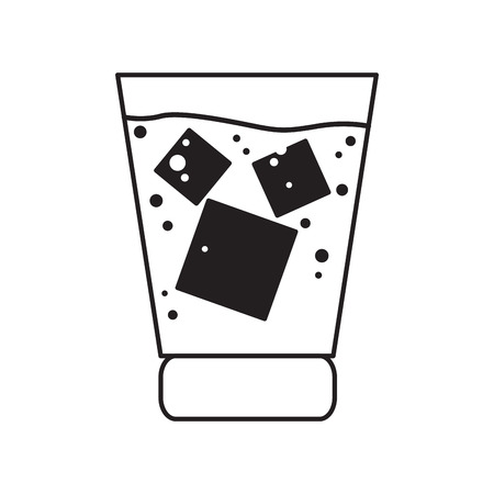 Isolated outline of a beer glass, Vector illustration