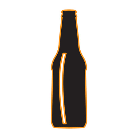 Isolated beer bottle icon on a white background, Vector illustration