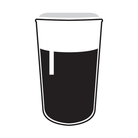 Isolated beer glass icon on a white background, Vector illustration