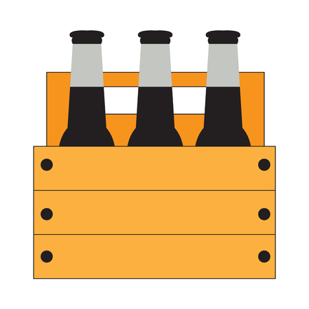 Isolated group of beer bottles, Vector illustration Illustration