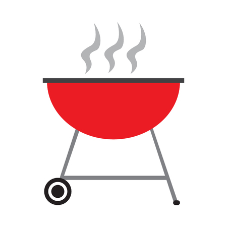 Isolated barbecue grill on a white background, Vector illustration