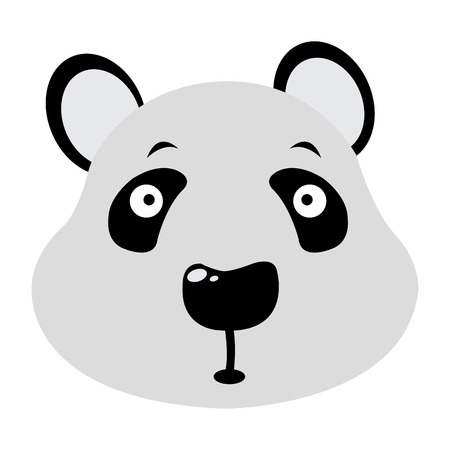 animal head: Isolated avatar of panda on a white background, vector illustration