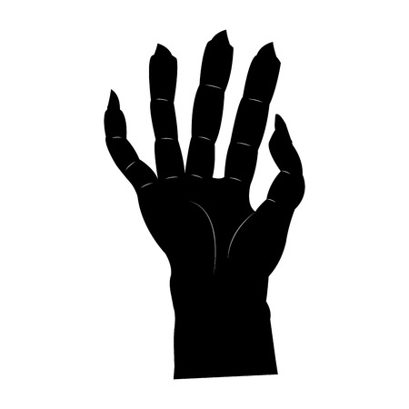 Isolated scary hand on a white background, vector illustration Illustration