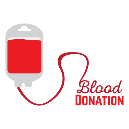 Isolated blood bag on a white background, Vector illustration Illustration