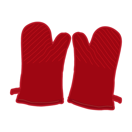 Isolated pair of kitchen gloves, Vector illustration