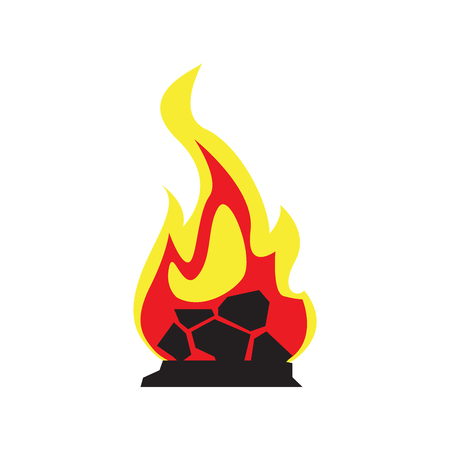 Isolated campfire icon on a white background, Vector illustration Illustration