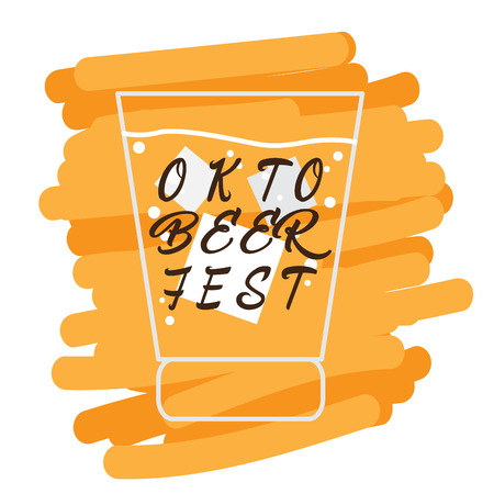 Isolated outline of a beer glass, Oktoberfest Vector illustration