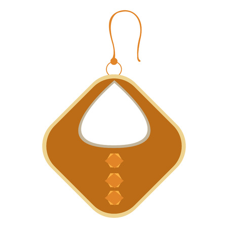 Isolated single earring on a white background, Vector illustration