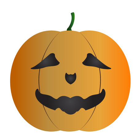 Isolated halloween pumpkin mask on a white background, Vector illustration Illustration