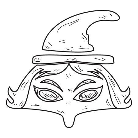 Isolated Vintage Witch Mask On A White Background Vector Illustration Royalty Free Cliparts Vectors And Stock Image 85319705