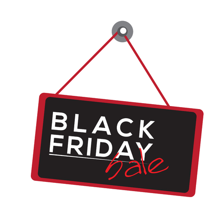 holiday shopping: Isolated black friday label on a white background, Vector illustration