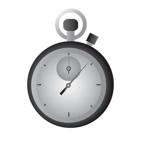 sports equipment: Isolated chronometer icon on a white background, Vector illustration