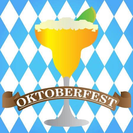 Isolated cocktail on a textured background, Oktoberfest vector illustration Illustration