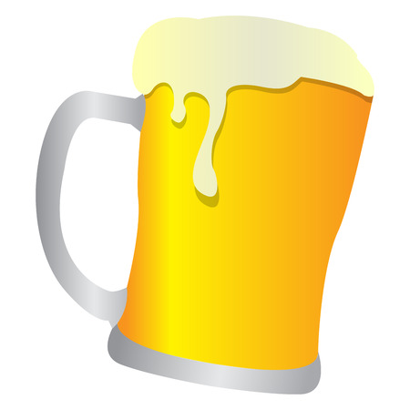 Isolated beer mug on a white background, Vector illustration
