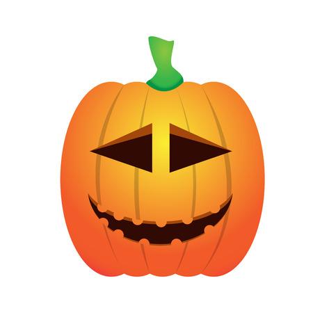 Isolated happy jack-o-lantern on a white background, Vector illustration Illustration