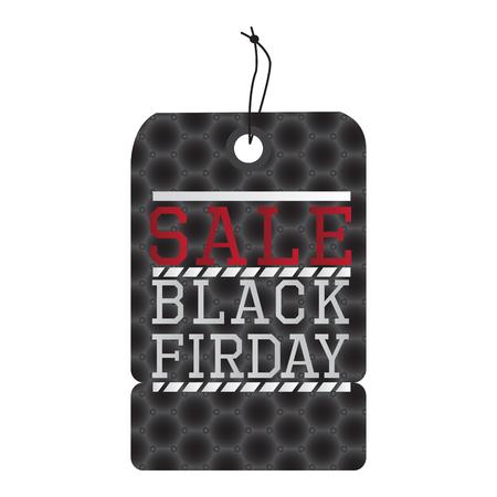 holiday shopping: Isolated black friday label.