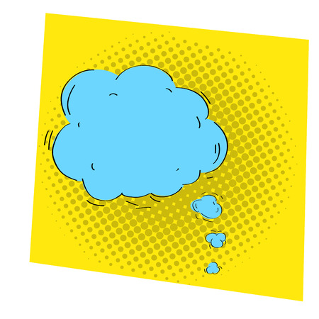 Isolated comic speech bubble on a colored background, Vector illustration Illustration