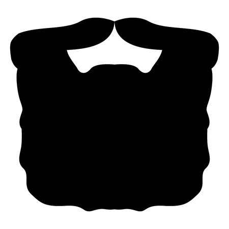 Isolated silhouette of a beard, Vector illustration