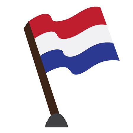 Isolated flag of The Netherlands, Vector illustration Illustration