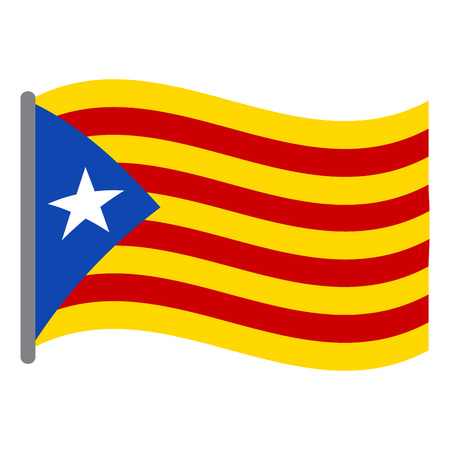 Isolated flag of Catalonia on a white background, Vector illustration Illustration