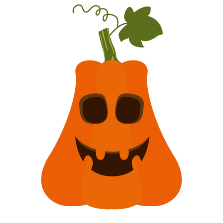 Isolated Halloween jack-o-lantern on a white background. Illustration