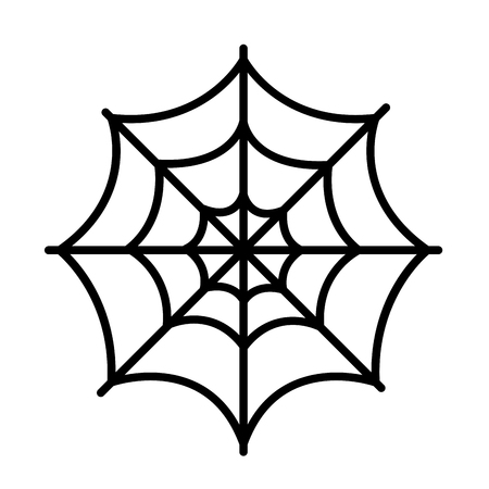 animal trap: Isolated spider web icon on a white background.