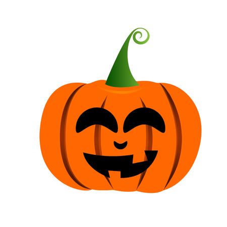 Isolated Halloween Jack-o-lantern illustration. Illustration