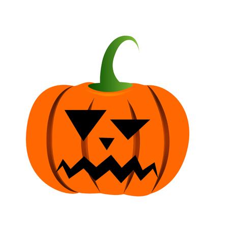 month: Isolated Halloween jack-o-lantern on a white background. Illustration