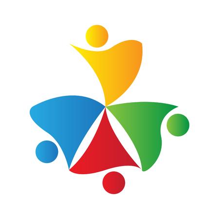 modern business: Teamwork logo isolated on white background, Business vector illustration Illustration