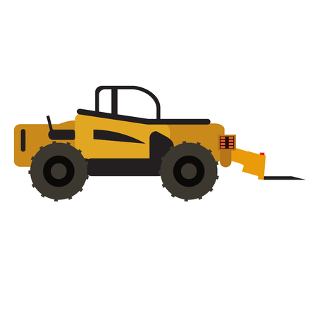 Construction vehicle icon isolated on white background, Vector illustration