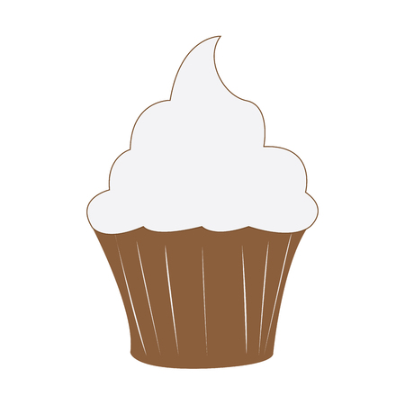 sprinkle: Isolated cupcake icon on a white background, vector illustration Illustration
