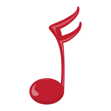 Isolated musical note icon. Illustration