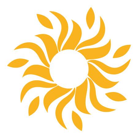 sun energy: Sun icon isolated on white background, Vector illustration Illustration