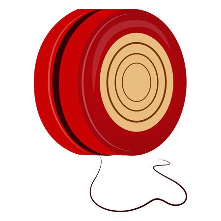 Yo-yo isolated on white background, Vector illustration