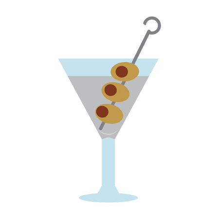 Cocktail isolated on white background, Vector illustration