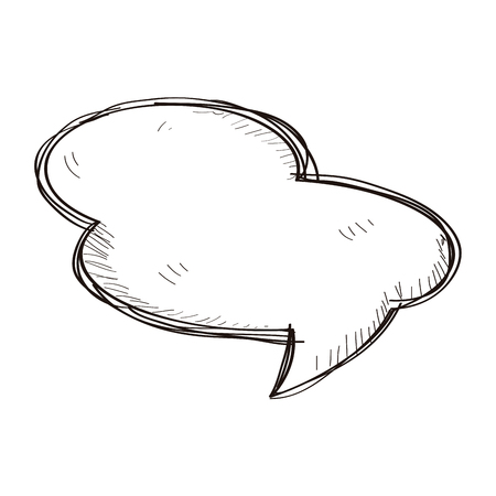 Comic speech bubble isolated on white background, Vector illustration
