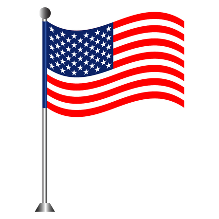 Flag of The United States Illustration
