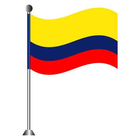 Flag of Colombia Ilustrace