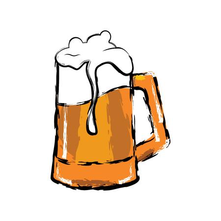 Isolated beer mug vector