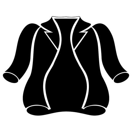 Winter jacket silhouette vector