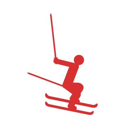 Abstract winter sport symbol