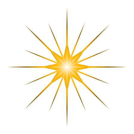 Na białym tle kształt gwiazdy, cyfrowo wygenerowany obraz, ilustracja kreskówka Ilustracje wektorowe