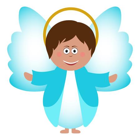 Isolated Angel icon, digitally generated image, cartoon illustration