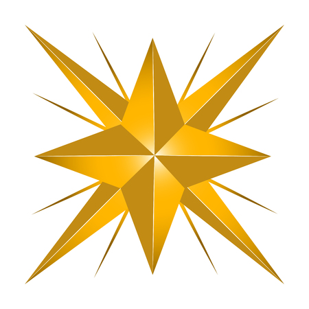 Isolated star shape, digitally generated image, cartoon illustration